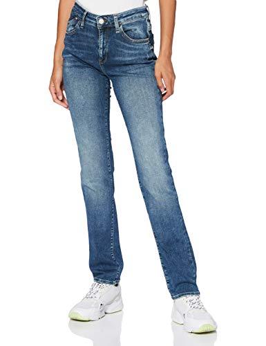 Mavi Damen Kendra Straight Jeans, Blau (Mid Indigo Uptown STR 24935), W31/L32