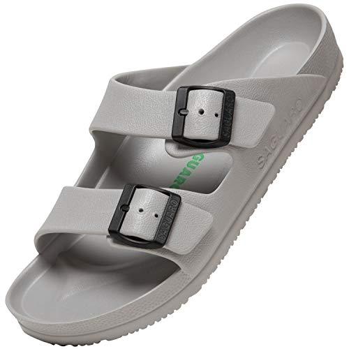 Pantofole per Uomo Confortevole Traspirante Sandali da Spiaggia Antiscivolo Ciabatte da Spiaggia per Le Donne Classic Casual Mules, Clog Grigio Chiaro 39