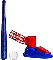 野球ボールマシンセット折りたたみ式プラスチック製格納式ボール玩具、野球バット1台、ピッチングマシン1台、野球3台、初心者向けの子供のおもちゃ