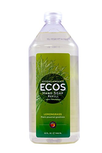 ECOS Hypoallergenic Hand Soap, Lemongrass, 32oz Refill Bottle by Earth Friendly Products, 67669
