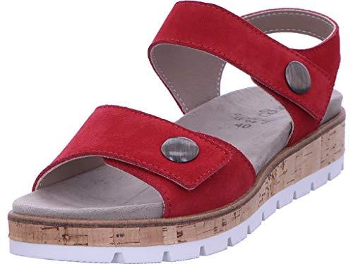 LONGO Sandalette Bequem Freizeit Damen Rot Größe 40 EU Rot (rot)