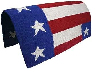 Derby Originals Tahoe Tack Hand Woven American Flag Patriotic Wool Western Horse Saddle Blanket - 36x34