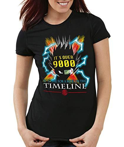 style3 Goku Timeline 9000 T-Shirt Femme, Couleur:Noir, Taille:XS