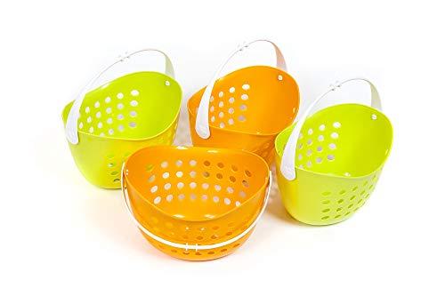 Polly Shopper 4 Einkaufskorb für den Kaufladen grün orange