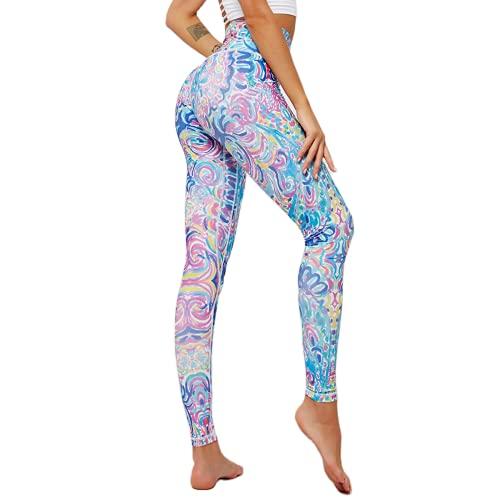 QTJY Pantalones de Yoga Transpirables y de Secado rápido Leggings elásticos de Cintura Alta Leggings Deportivos para Correr al Aire Libre J M