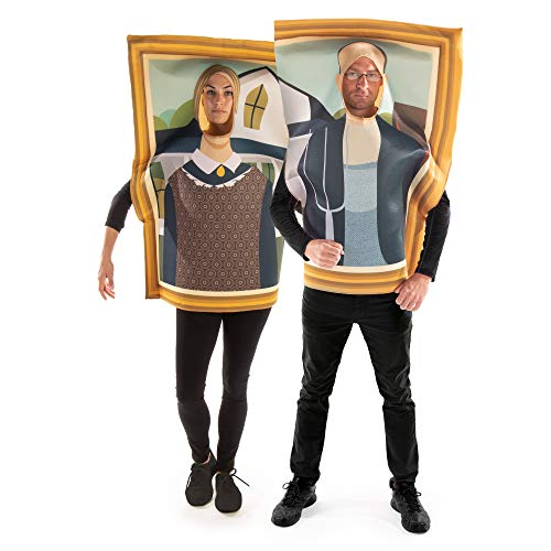 American Gothic Couples Costume - Funny Famous Frame Painting Halloween Outfits
