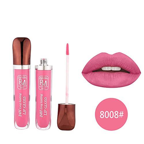 Puff Nail Art Rouge à lèvres Ombres à Paupières Beauté Outils Correcteur,Rouge à lèvres liquide imperméable de mode cosmétique beauté sexy maquillage de lustre de lèvre