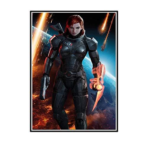 Yoopa Mass Effect 2 3 4 Juego de acción de disparo en caliente Póster artístico Impresión de pintura Sala de estar Decoración del hogar -50X70 CM Sin marco 1 Uds