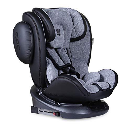 Lorelli asiento infantil Aviator SPS Isofix grupo 0+/1/2/3 (0-36 kg) 0-12 años, color:gris