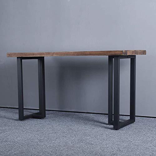 "2 Pack Furniture Legs 28"" H x 17.7"" W Decory Square Tube Table Legs,Heavy Duty Metal Desk Legs,Dining Table Legs, DIY Iron Brackets Bench Legs(Only Legs, Black)"