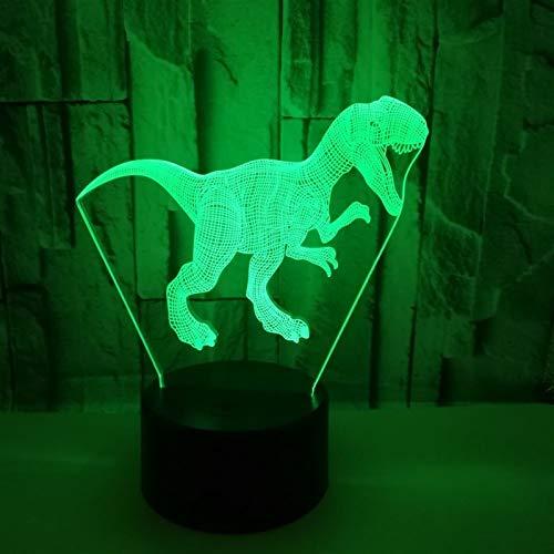 DNN Nachttischlampen für Kinder 3D Dinosaur Night Light Illusion Lampe, 7 Farben ändern USB Powered Party Dekoration Dinosaurier Geschenke Spielzeug Lampe, 3D Visual Lamp for Home