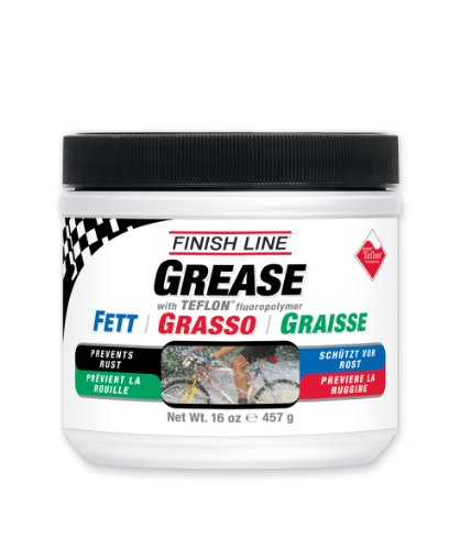 Finish Line Teflon Grease (Premium Synthetic) - Grasa para Bicicletas, Talla 457gr
