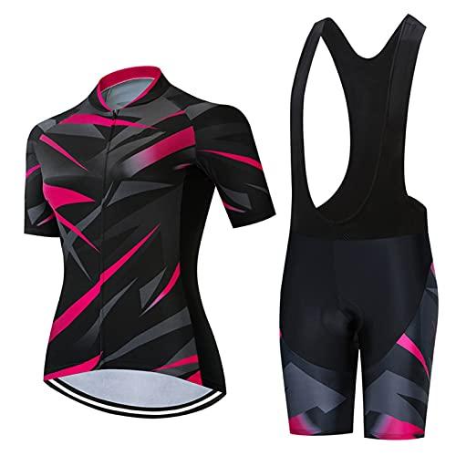Ropa de ciclismo para mujer, de verano, para bicicleta de montaña, 000422, color dorado, talla XL:
