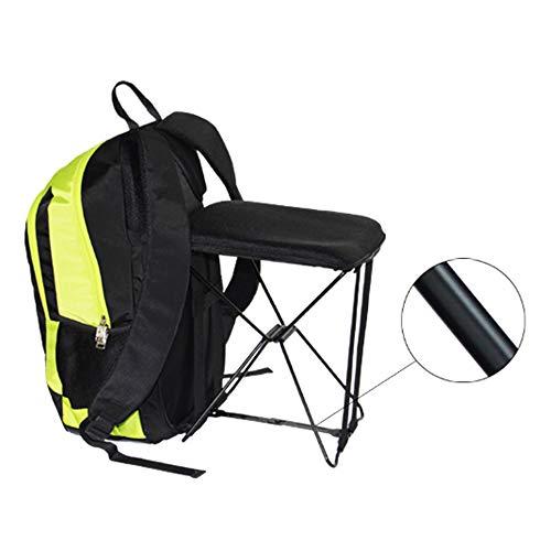 CLHCilihu Leichte Klappstuhl Rucksack, 2-In-1 beweglicher wasserdichte Rucksäcke Hocker für Angeln Camping Wandern im Freien Spazierengehen Männer Frauen