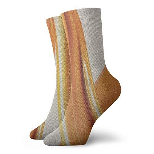 Christmas Unisex Classics Socks Sport Athletic Stockings 30cm Long Sock Gift Socks(Brown Caramel Sweet Toffee Splash 3d Liquid Abstract Art Smooth Surface)