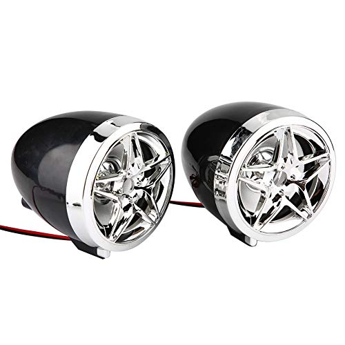 Esenlong Impermeable Motocicleta BT Mp3 Player Audio Stereo Speaker System USB TF Card Carrier Black