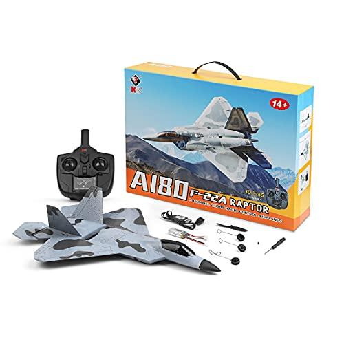 Flye Flugzeug Ferngesteuertes (WLtoys XK-A180), 3CH Flugzeug 3D / 6G Gyroskop Starrflügelgleiter Outdoor RC Spielzeug mit LED-Licht