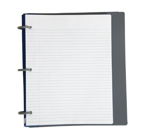 Five Star Flex Hybrid NoteBinder, 1 Inch Binder with Tabs, Notebook and 3 Ring Binder All-in-One, Blue (72411) Photo #3
