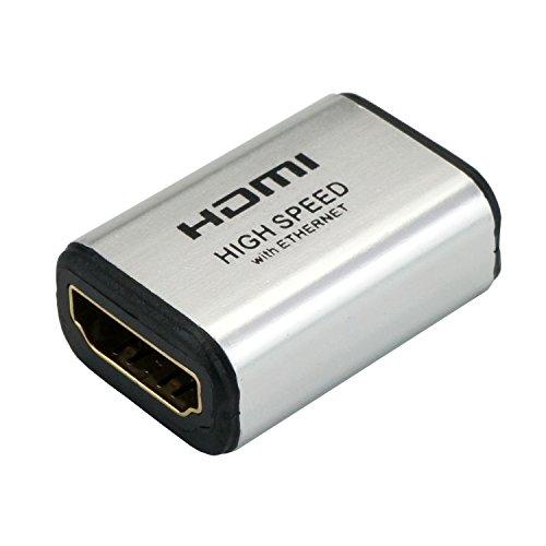{ホーリック HDMI中継アダプタ シルバー HDMIF-HDMIF}