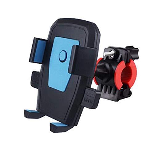 Huaduo Soporte para teléfono móvil, bicicleta, motocicleta, espejo retrovisor universal, soporte para teléfono móvil, giratorio y con bloqueo automático, soporte para bicicleta al aire libre
