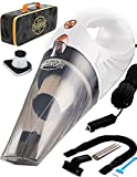 ThisWorx Car Vacuum Cleaner - Portable, High Power, Handheld Vacuums w/ 3 Attachments, 16 Ft Cord & Bag - 12v, Auto Accessories Kit for Interior Detailing - White