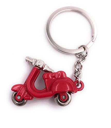 H-Customs Motorroller Roller Rot Anhänger besonderer Schlüsselanhänger