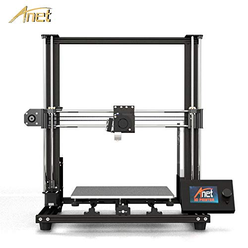 Anet A8 Plus DIY 3D Printer Upgraded from Anet A8, All-Metal Frame, Larger Hotbed Size 300x300mm, Upgraded Over-Current Protection Mainboard, Moveable Operation LCD Display, Adjustable Belts Design
