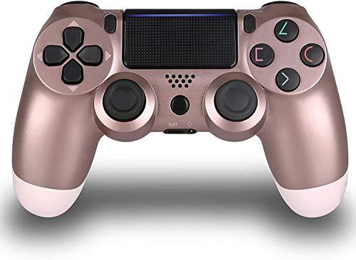 Controladores sem fio para PS4, controle remoto sem fio para Sony Playstation 4, joystick PS4 para PS4 controlador com dualshock e cabo de carregamento, terceiros, Rose Gold