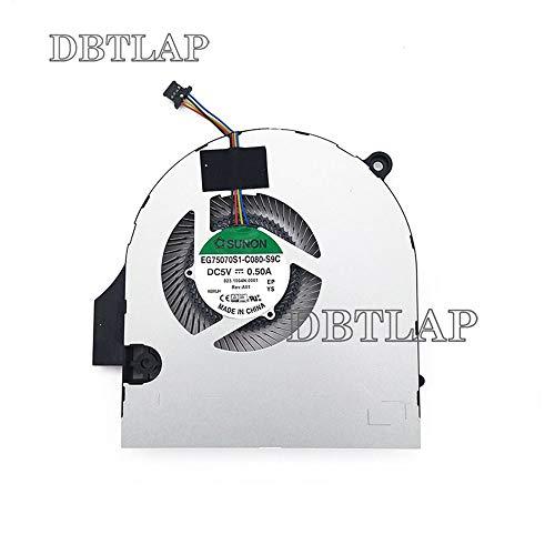 DBTLAP GPU Ventilador Compatibles para Acer Aspire v17 Nitro vn7-791G vn7-791 VN7-791G-76Z8 EG75070S1-C060-S9C Ordenador portátil enfriamiento