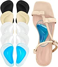 Dr. Foot Plantar Fasciitis Arch Support Shoe Insoles 5 Pairs, Thicken Gel Arch Pads for Flat Feet - Self-Adhesive Arch Cushions Inserts for Men and Women (Clear*2+Black+Beige+Blue)