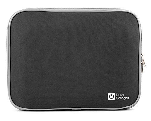 DURAGADGET Black 'Travel' Sleeve Case in Shock-Absorbing & Water-Resistant Neoprene - Compatible with Lenovo Miix 520