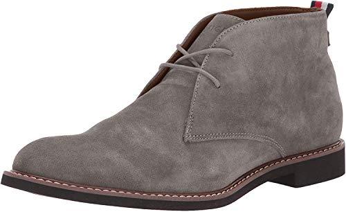 Tommy Hilfiger Men's Gervis Chukka Boot, Grey Suede, 7 Medium US