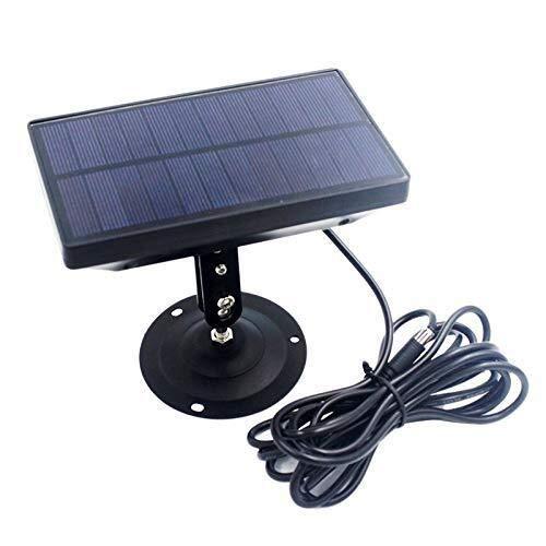 XBR Luces solares Impermeables, Cargador de batería de Panel Solar al Aire Libre de 9V 1800MAh para Suntek HC300 HC350 HC550 HC700 HC800 S990 S880 680 S80M