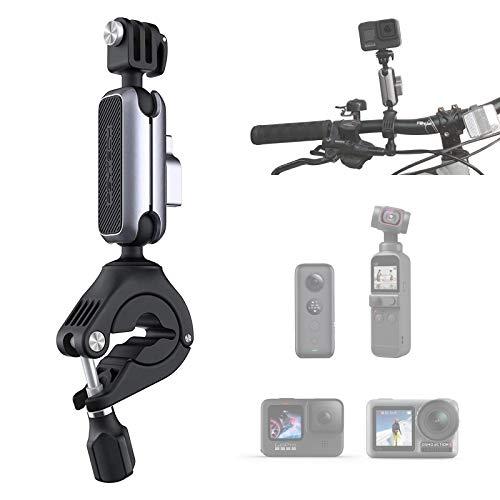 PGYTECH アクションカメラホルダー 自転車・バイク・オートバイマウント 360度回転 1/4ネジ付きアルミ合金+ PA スマホ、Osmo Action、Osmo Pocket/Pocket2、GoPro10/9/8/max/7/6/5/4、ONE X2など対応