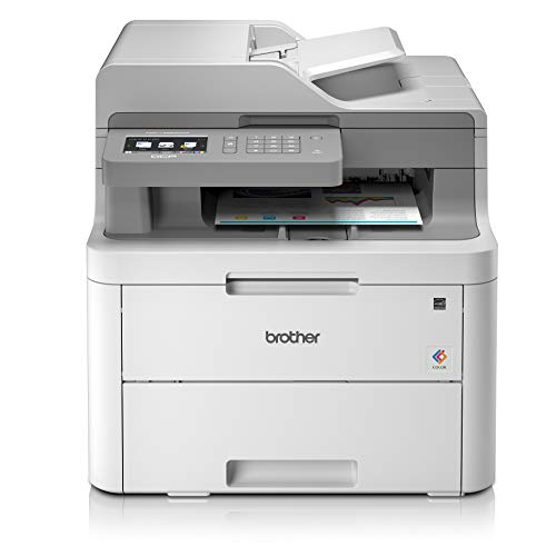 Brother DCP-L3550CDW Imprimante Multifonction 3 en 1 Laser - Couleur - Silencieuse 45db- Mémoire 512Mo - Impression Recto-verso - Airprint