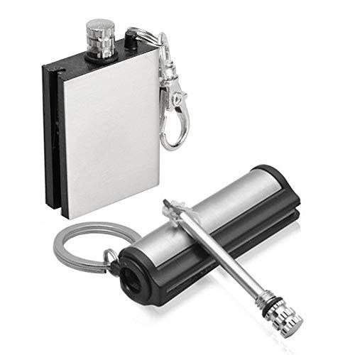 Lixada 2 Pack Permanent Match Forever Lighter Emergency Fire Starter Metal Match Lighter Matchbox