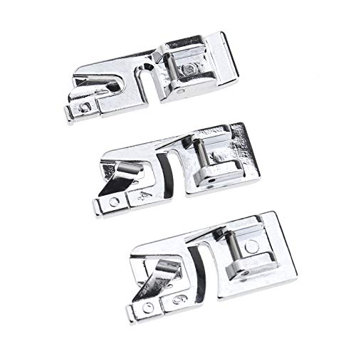 Ototec - Piedino per orlo arrotolato da 3, 4 e 6 mm, compatibile con macchine da cucire Brother, Janome, Singer e Bernet