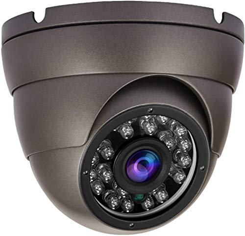 Anpviz Cámara CCTV 1080P Domo vigilancia analógica de Seguridad 4 en1 HD TVI/CVI/AHD / 960H Resistente al Clima Exterior IP66, Lente Fija con 24 Piezas IR Led Visión Diurna/Nocturna