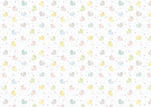 ARTEBENE Geschenkpapier Geschenkpapierbogen Geschenkpapierrolle Bogen Verpackung Baby Ente