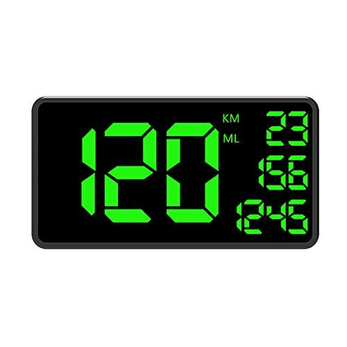 GPS Tachometer Geschwindigkeitsmesser MPH / KMH, GPS Tachometer Geschwindigkeitsmesser Auto HUD Head Up Display, Geschwindigkeitswarnung, USB Ladegerät Verfügbar, Für Alle Fahrzeuge, Fahrrad, Motorrad