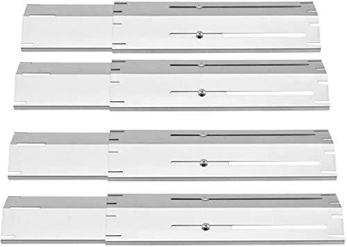 Onlyfire Universal-Ersatzteil Heizplatte,Hitzeschild, Hitzezelt, Brennerabdeckung, Flammenverteiler für Gasgrill, Strapazierfähiges Edelstahl,Verlängert von 29.85 cm bis 53.34 cm(4pack)