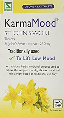 Schwabe Pharma KarmaMood St John's Wort Extract 250mg Tablets- Pack of 30 Tablets from Queenswood Natural Foods Ltd