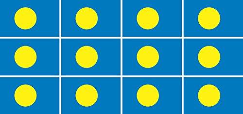 Mini Aufkleber Set - Pack glatt - 50x31mm - Sticker - Palau - Flagge-Banner-Standarte fürs Auto, Büro, zu Hause & die Schule - 12 Stück