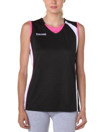 Spalding 4her Tank Top Maillot basket-ball femme Noir/Blanc/Pink XL