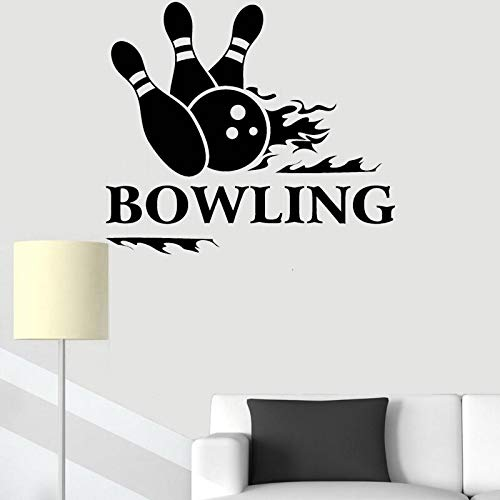 JXFM DIY Bowling Vinyl Decal Living Room Wall Sticker Sports Entertainment Center Mural Home Decoration Casual Custom color or size