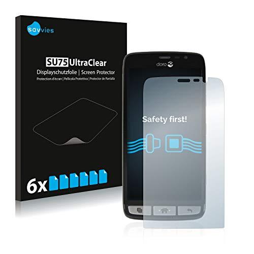 Savvies 6X Schutzfolie kompatibel mit Doro Liberto 825 Bildschirmschutz-Folie Ultra-transparent