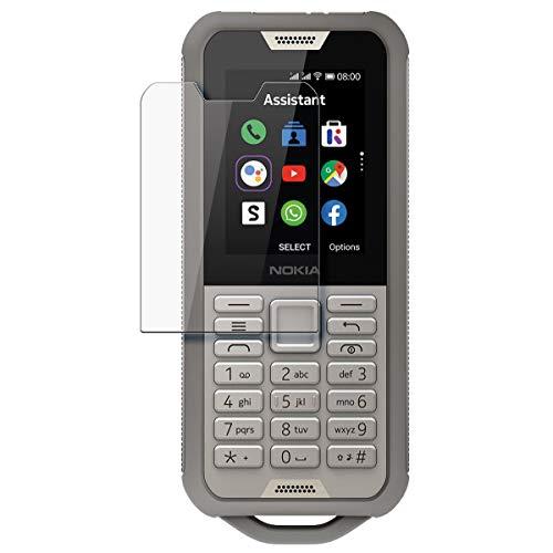 disGuard Schutzfolie für Nokia 800 Tough [2 Stück] Kristall-Klar, Bildschirmschutzfolie, Glasfolie, Panzerglas-Folie, Bildschirmschutz, extrem Kratzfest, Schutz vor Kratzer, transparent