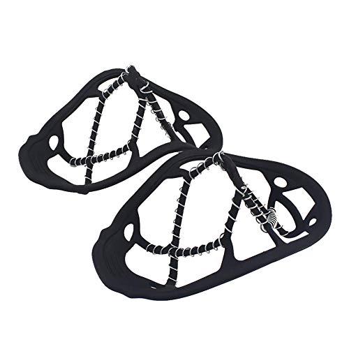 Pineocus Empuñaduras de nieve de hielo, clavos antideslizantes de 8 dientes, tacos de hielo para nieve, tacos de tracción para botas de senderismo, pesca, senderismo, montañismo, viajes al aire libre
