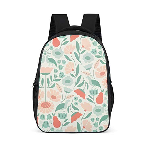 Plant, green, flower, grass, trees, bird Toddler's Daypack Large Perfect Size for Youth flower grey onesize