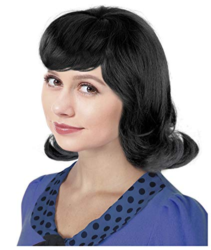 60s Black Flip Jackie Kennedy Costume Wig 50s Wig For Women Lucy Wig